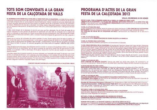 GRAN FESTA DE LA CALÇOTADA A VALLS - Diumenge 29
